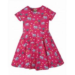 """frugi - Bio Kinder Jersey Kleid """"Spring"""" mit Elefanten-Allover"""