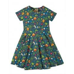 """frugi - Bio Kinder Jersey Kleid """"Spring"""" mit Farm-Allover"""