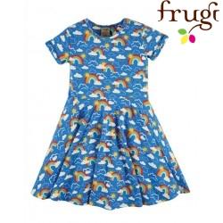 "frugi - Bio Kinder Jersey Kleid ""Spring"" mit Regenbogen-Allover"