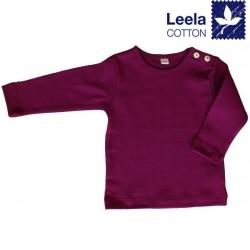 Leela Cotton - Bio Kinder Langarmshirt, fuchsia