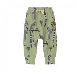 Walkiddy - Bio Kinder Jersey Hose mit Lemuren-Allover