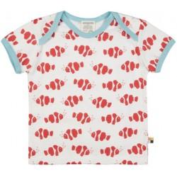 loud + proud - Bio Kinder T-Shirt mit Clownfisch-Allover