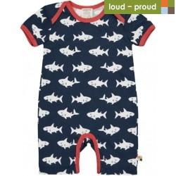 loud + proud - Bio Baby Spieler mit Hai-Druck