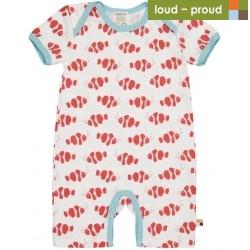 loud + proud - Bio Baby Spieler mit Clownfisch-Druck