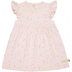 loud + proud - Bio Kinder Jersey Kleid mit Punkten und Flügelärmel, rosa