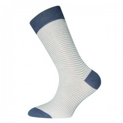 Ewers - Bio Kinder Socken mit Streifen, blau