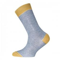 Ewers - Bio Kinder Socken mit Streifen, honig