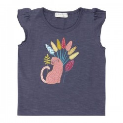 "Sense Organics - Bio Kinder T-Shirt ""Nana"" mit Leoparden-Applikation"