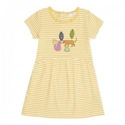 """Sense Organics - Bio Kinder Jersey Kleid """"Fina"""" mit Leoparden-Applikation und Streifen"""