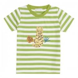 "Sense Organics - Bio Kinder T-Shirt ""Ibon"" mit Tiger-Applikation und Streifen"