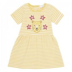 """Sense Organics - Bio Baby Jersey Kleid """"Amea"""" mit Leoparden-Applikation und Streifen"""