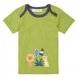 """Sense Organics - Bio Baby T-Shirt """"Tobi"""" mit Löwen-Applikation und Streifen"""