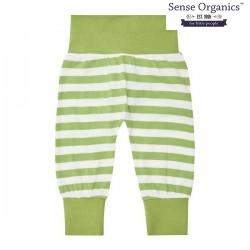 "Sense Organics - Bio Baby Jersey Hose ""Sjors"" mit Streifen, grün"