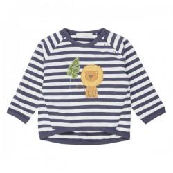 """Sense Organics - Bio Baby Sweatshirt """"Etu"""" mit Löwen-Applikation und Streifen"""