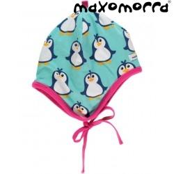 Maxomorra - Bio Baby Jerseymütze mit Pinguin-Motiv