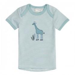 """Sense Organics - Bio Baby T-Shirt """"Tilly"""" mit Giraffen-Applikation und Streifen, blau"""