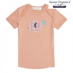 "Sense Organics - Bio Baby T-Shirt ""Tilly Retro"" mit Elefanten-Applikation"