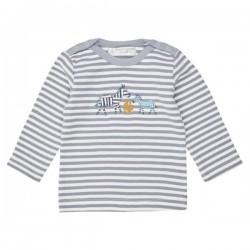 """Sense Organics - Bio Baby Langarmshirt """"Luna Retro"""" mit Zebra-Applikation und Streifen"""