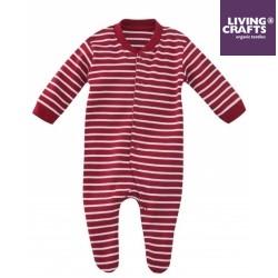 LIVING CRAFTS - Bio Baby Strampler, rot