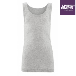 LIVING CRAFTS - Bio Kinder Unterhemd, grau melange