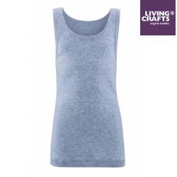 LIVING CRAFTS - Bio Kinder Unterhemd, blau melange