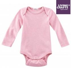 LIVING CRAFTS - Bio Baby Body langarm, rose melange