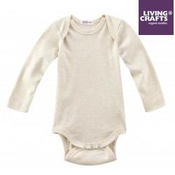 LIVING CRAFTS - Bio Baby Body langarm, natural melange