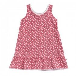 People Wear Organic - Bio Kinder Jersey Kleid mit Margeriten-Allover