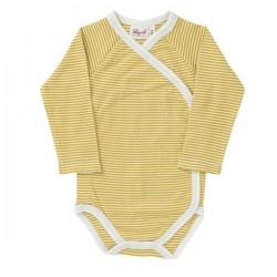 People Wear Organic - Bio Baby Wickelbody mit Streifen, gelb