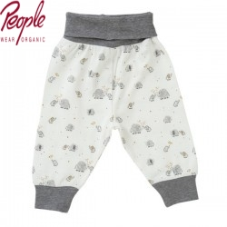 People Wear Organic - Bio Baby Sweathose mit Elefanten-Allover