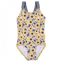 kite kids - Bio Kinder Badeanzug mit Blumen-Allover, UV50+