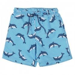 kite kids - Kinder Badeshorts mit Delfin-Allover und Streifen, UV50+