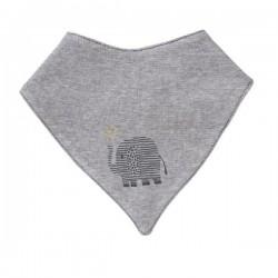 People Wear Organic - Bio Baby Wende Tuch mit Elefanten-Druck und Streifen