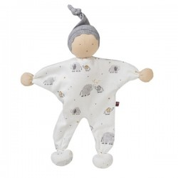 People Wear Organic - Manderl Puppe mit Elefanten-Allover