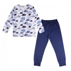 Walkiddy - Bio Kinder Schlafanzug mit Babywal-Allover