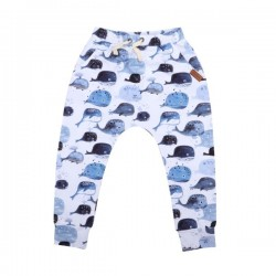 Walkiddy - Bio Kinder Jersey Hose mit Babywal-Allover