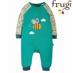 """frugi - Bio Baby Strampler """"Cameron"""" mit Bienen-Applikation"""