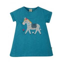 """frugi - Bio Kinder T-Shirt """"Ariella"""" mit Esel-Applikation"""