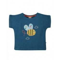 "frugi - Bio Kinder T-Shirt ""Sophia"" mit Bienen-Applikation"