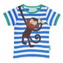 Toby tiger - Bio Baby T-Shirt mit Affen-Motiv und Streifen