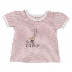 People Wear Organic - Bio Baby T-Shirt mit Giraffen-Motiv und Streifen