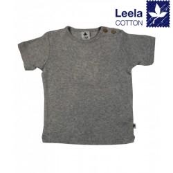 Leela Cotton - Bio Kinder T-Shirt, hellgrau-melange