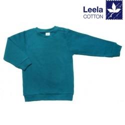 Leela Cotton - Bio Kinder Sweatshirt, donaublau