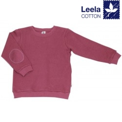 Leela Cotton - Bio Kinder Sweatshirt mit Waffelstruktur , altrosa