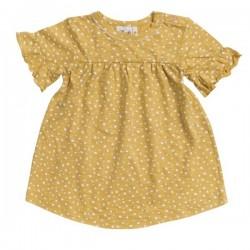 People Wear Organic - Bio Baby Kleid mit Punkten, gelb