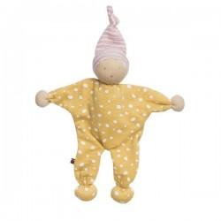 People Wear Organic - Manderl Puppe mit Punkten, gelb