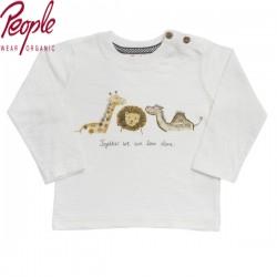 People Wear Organic - Bio Baby Langarmshirt mit Safari-Druck