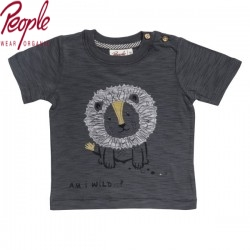 People Wear Organic - Bio Baby T-Shirt mit Löwen-Applikation