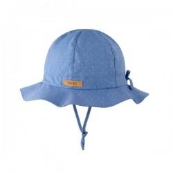 pure pure by BAUER - Bio Kinder Sonnehut mit Krempe, UPF 40-50, nautic blue