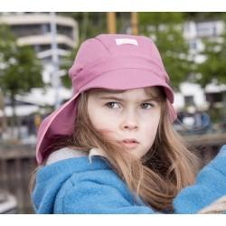 """PICKAPOOH - Bio Kinder Mütze """"Nico"""" mit Nackenschutz, rose, UV-Schutz 40"""